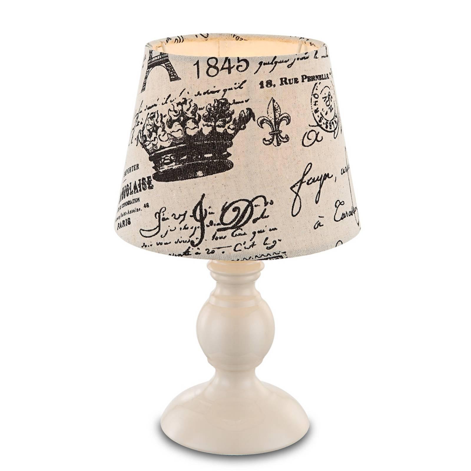 Met zwart opschrift - tafellamp Jolanda