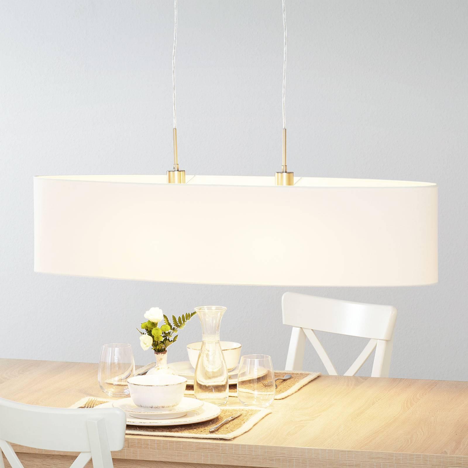 Lucande Patrik textiel-hanglamp 100cm crème