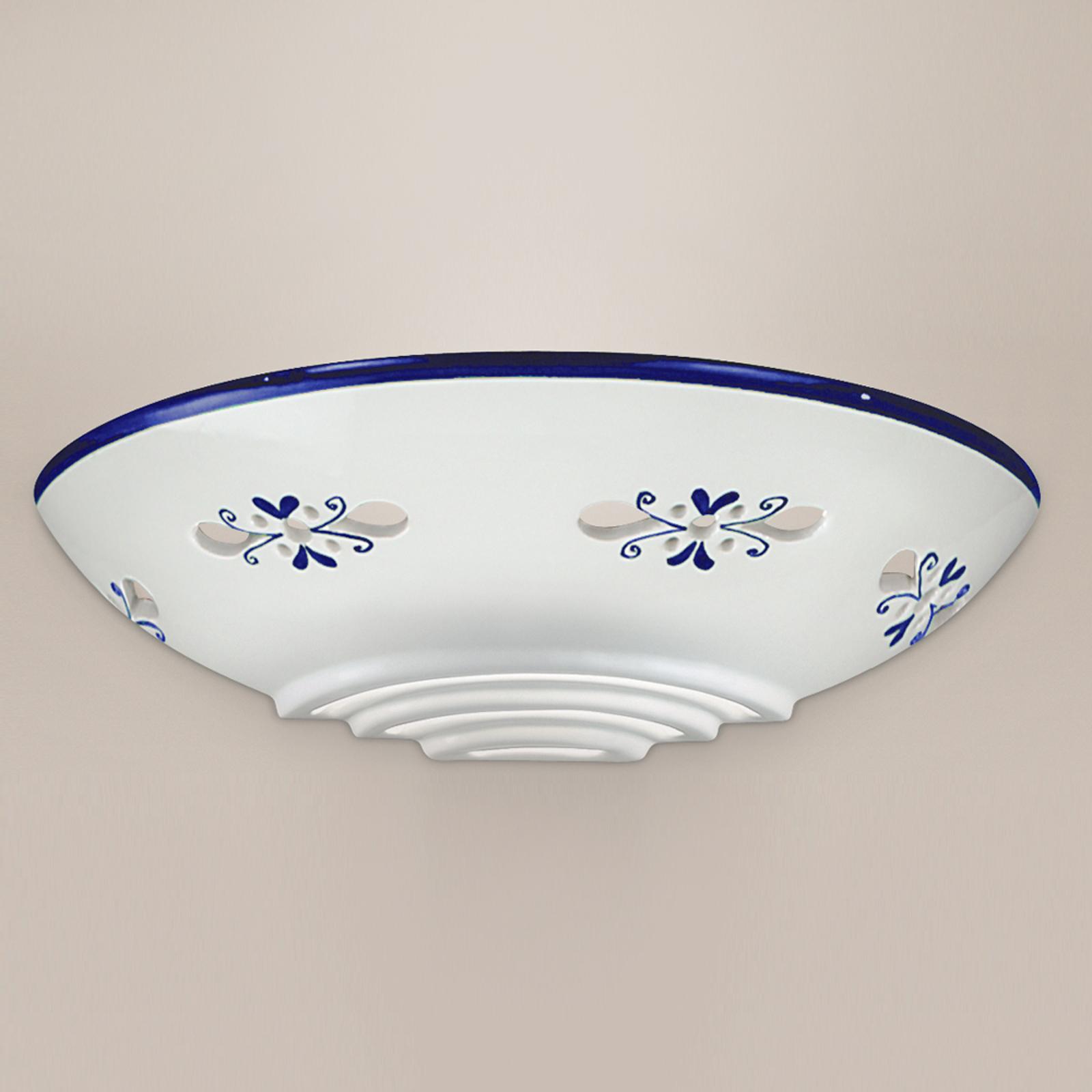 Applique d'extérieur Bassano céramique, bleu