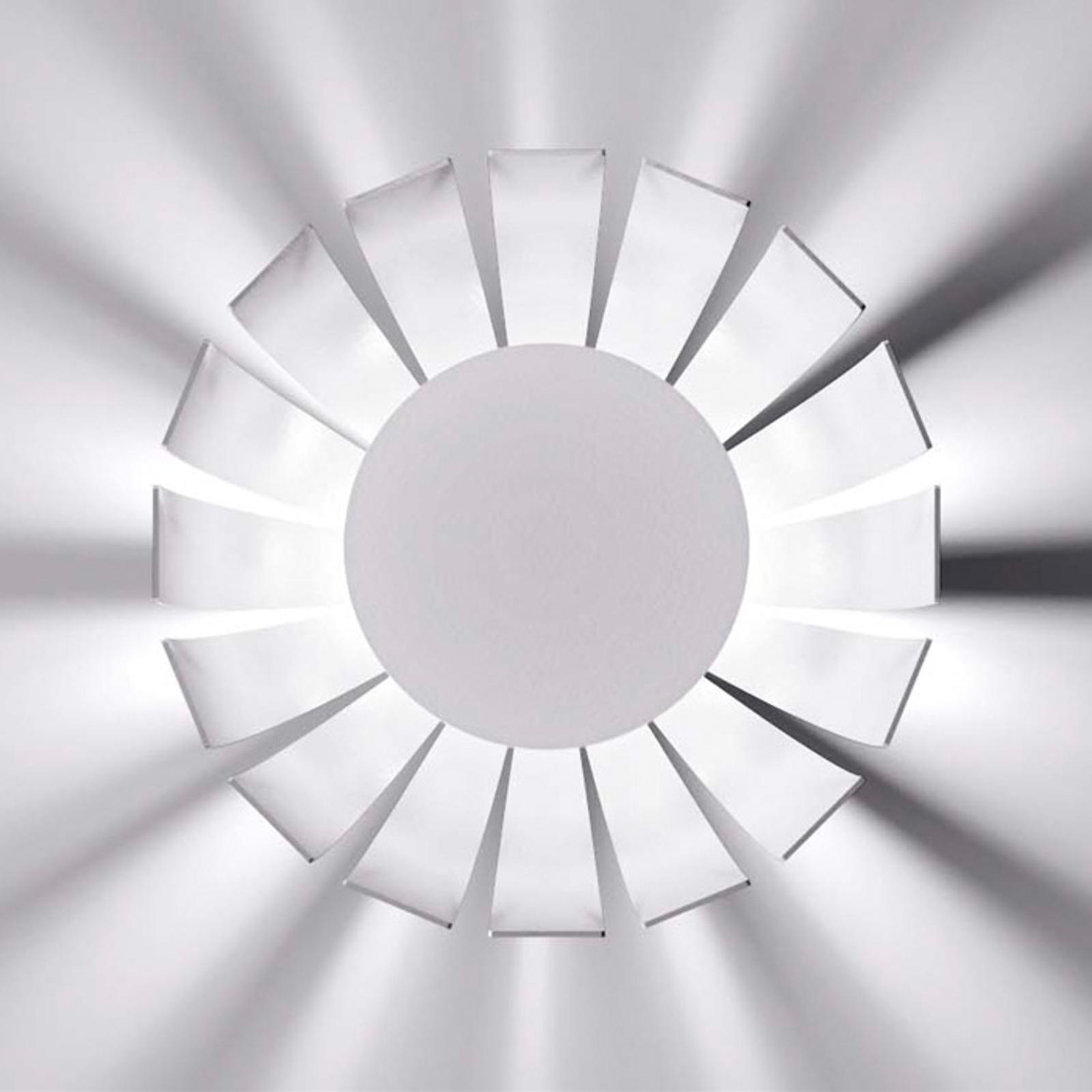 Witte LED design plafondlamp Loto, 20 cm