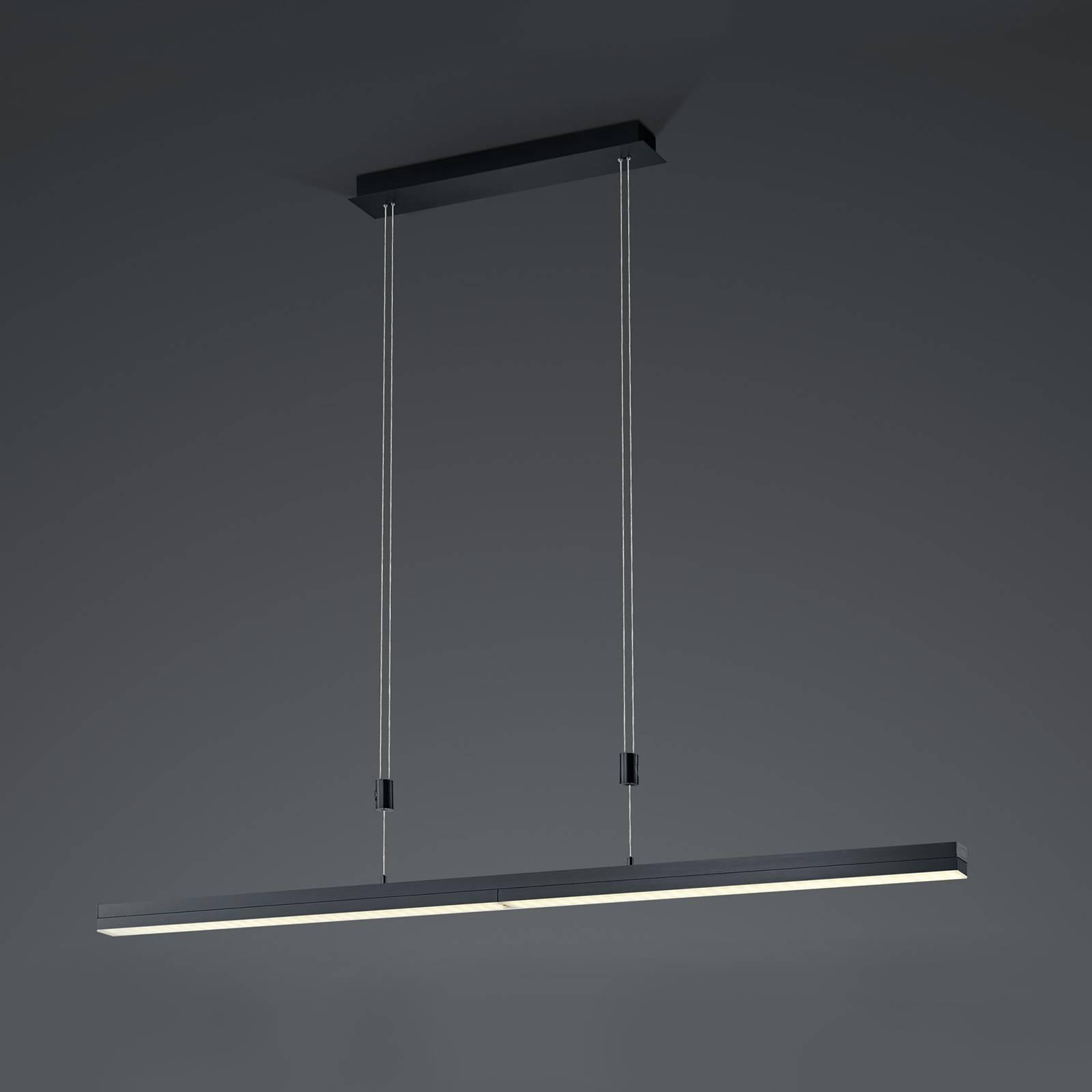 B-Leuchten Expanda-X LED-Pendelleuchte, anthrazit