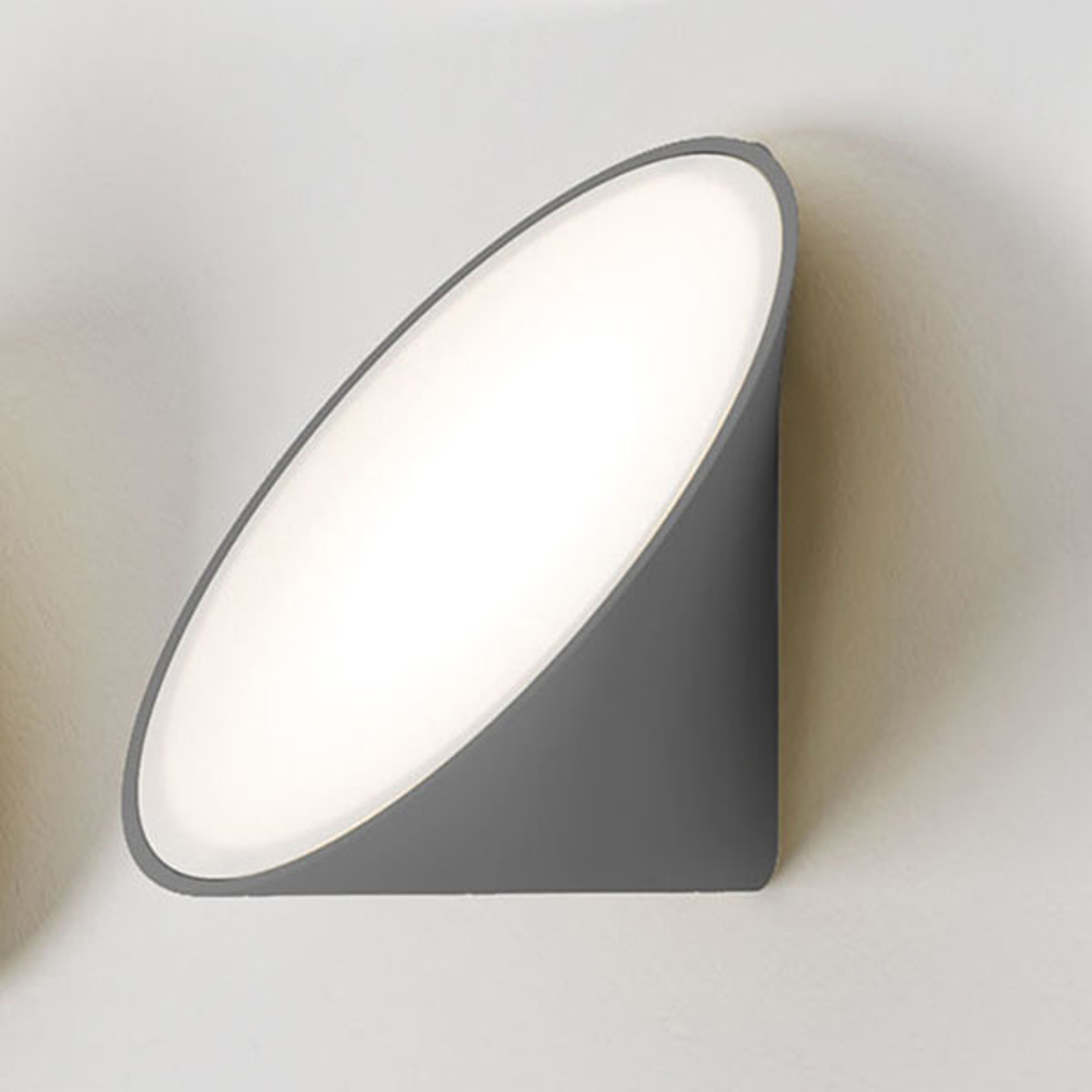 Axolight Orchid LED wandlamp, donkergrijs