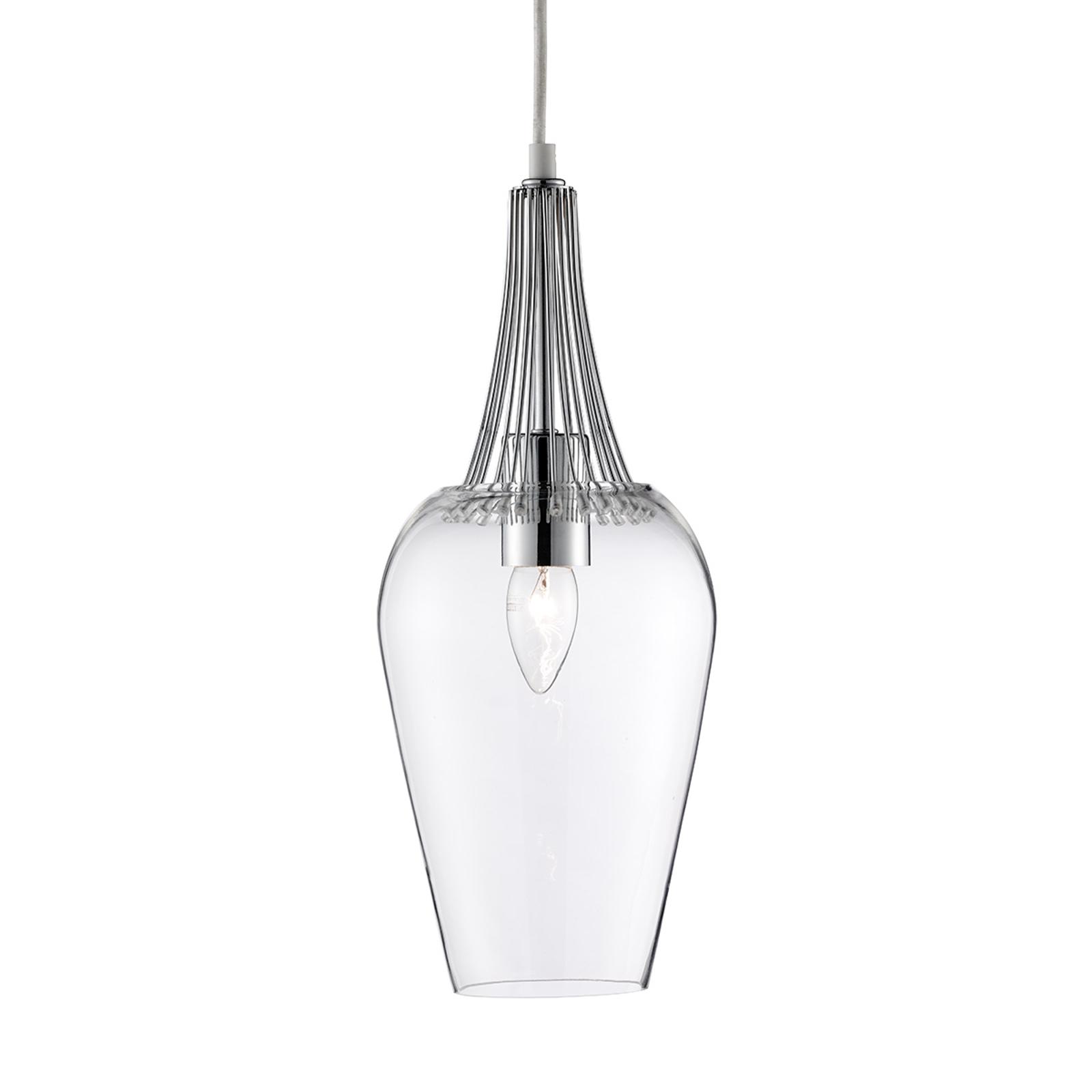 Lampa wisząca Whisk z chromowanymi elementami