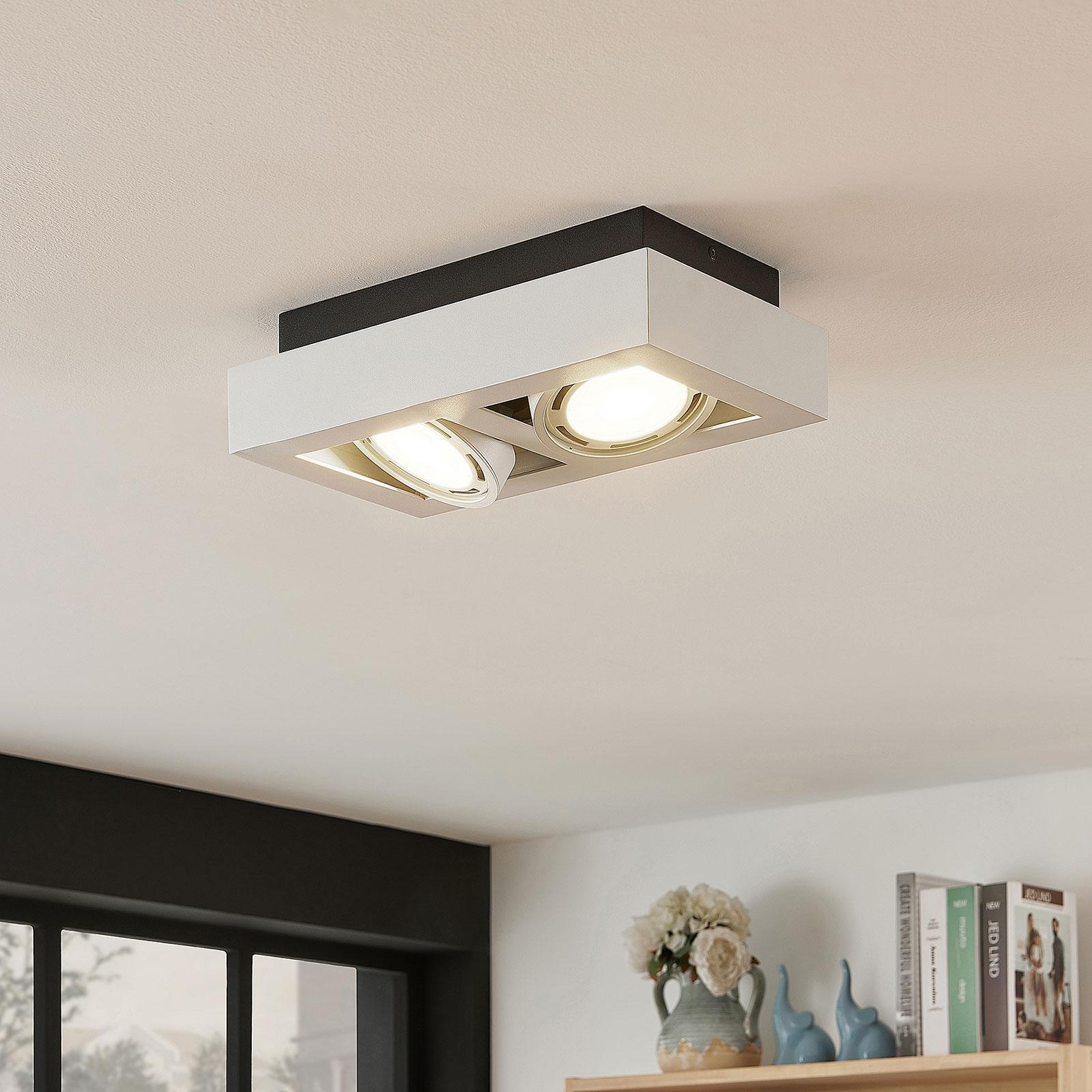 Spot pour plafond LED Ronka, 2 lampes, blanc