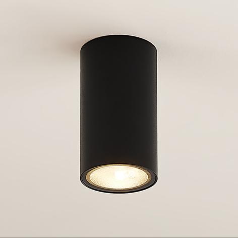 Arcchio Olivir downlight, kulatý, GU10, černá