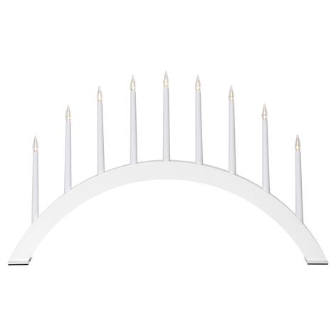 LED-Fensterleuchter Jazz, 9-flammig, halbrund weiß