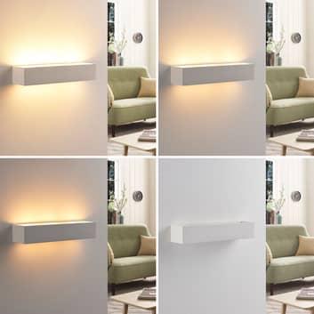 Arya - LED-Wandleuchte aus weißem Gips