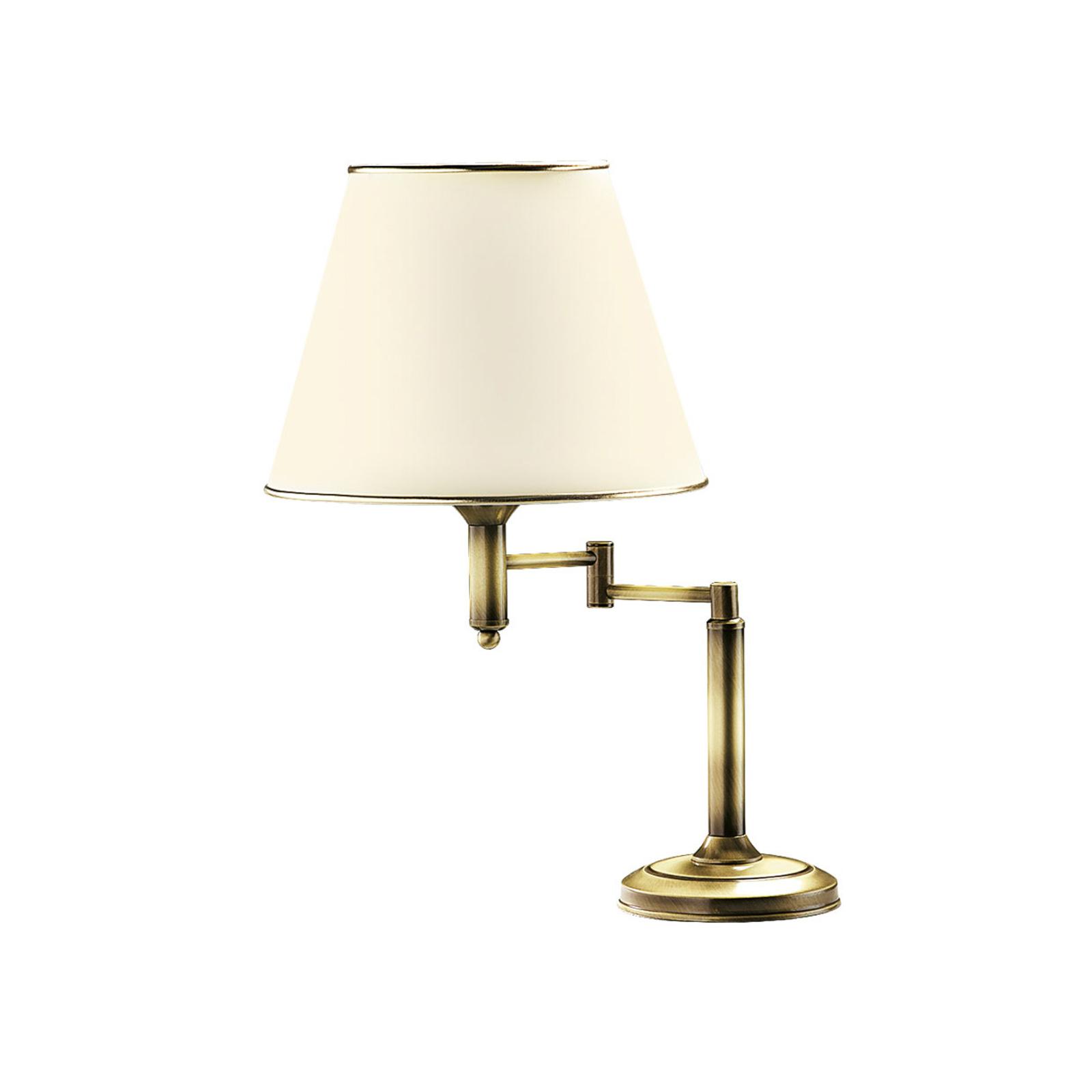 Birmingham bordlampe, patineret Ø 32 cm med led