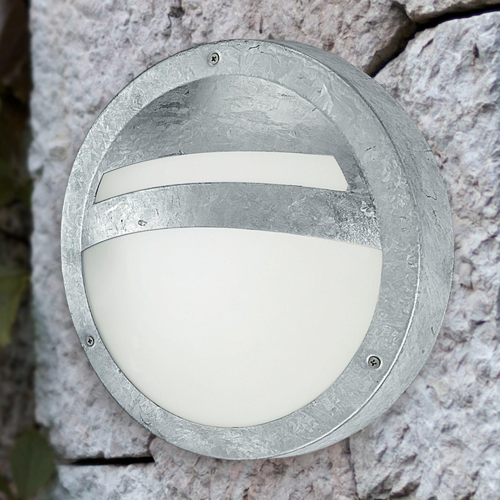 Pyöreä ulkoseinävalaisin SEVILLA, sinkitty teräs