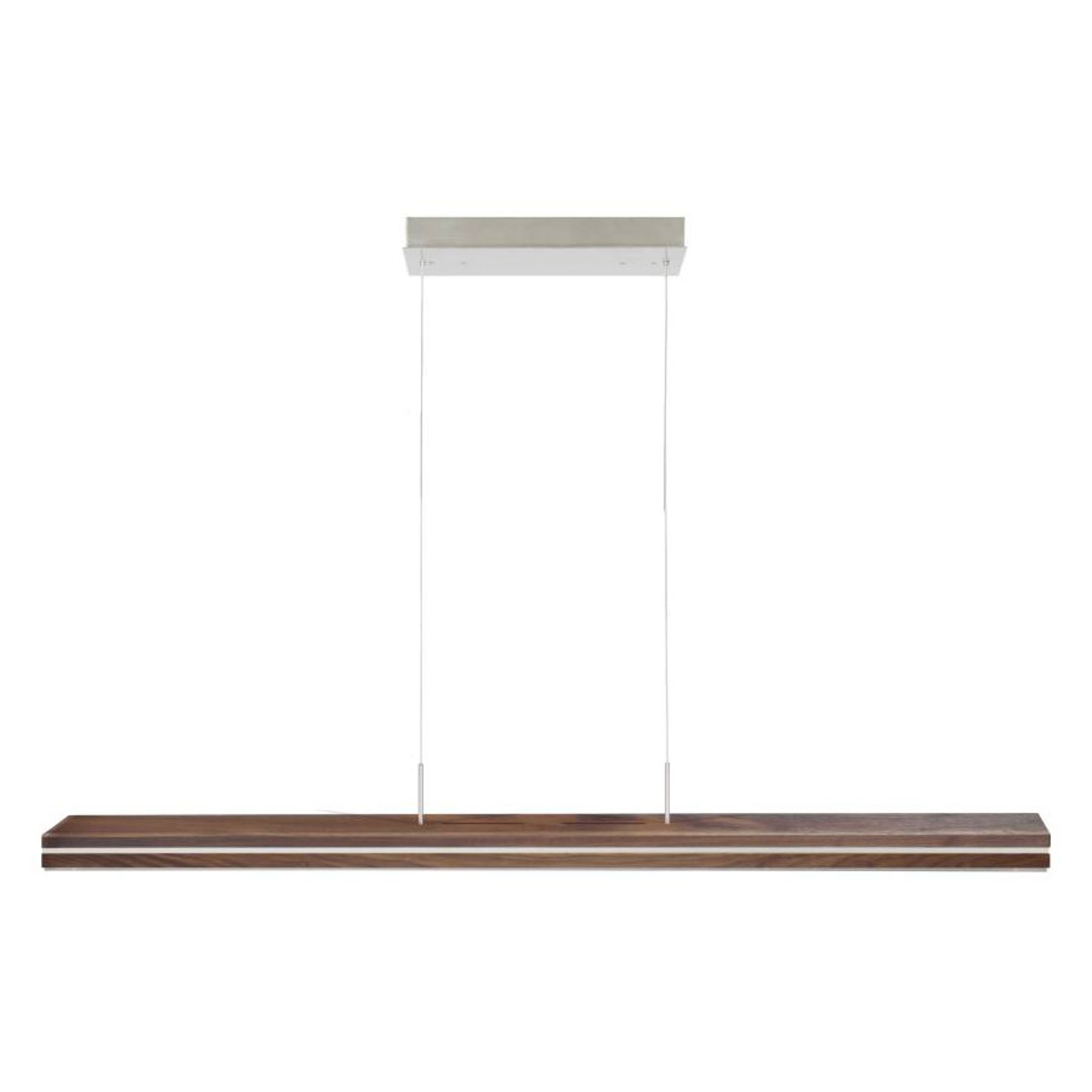 HerzBlut Mrs. Hilton LED hanglamp walnoot 130cm