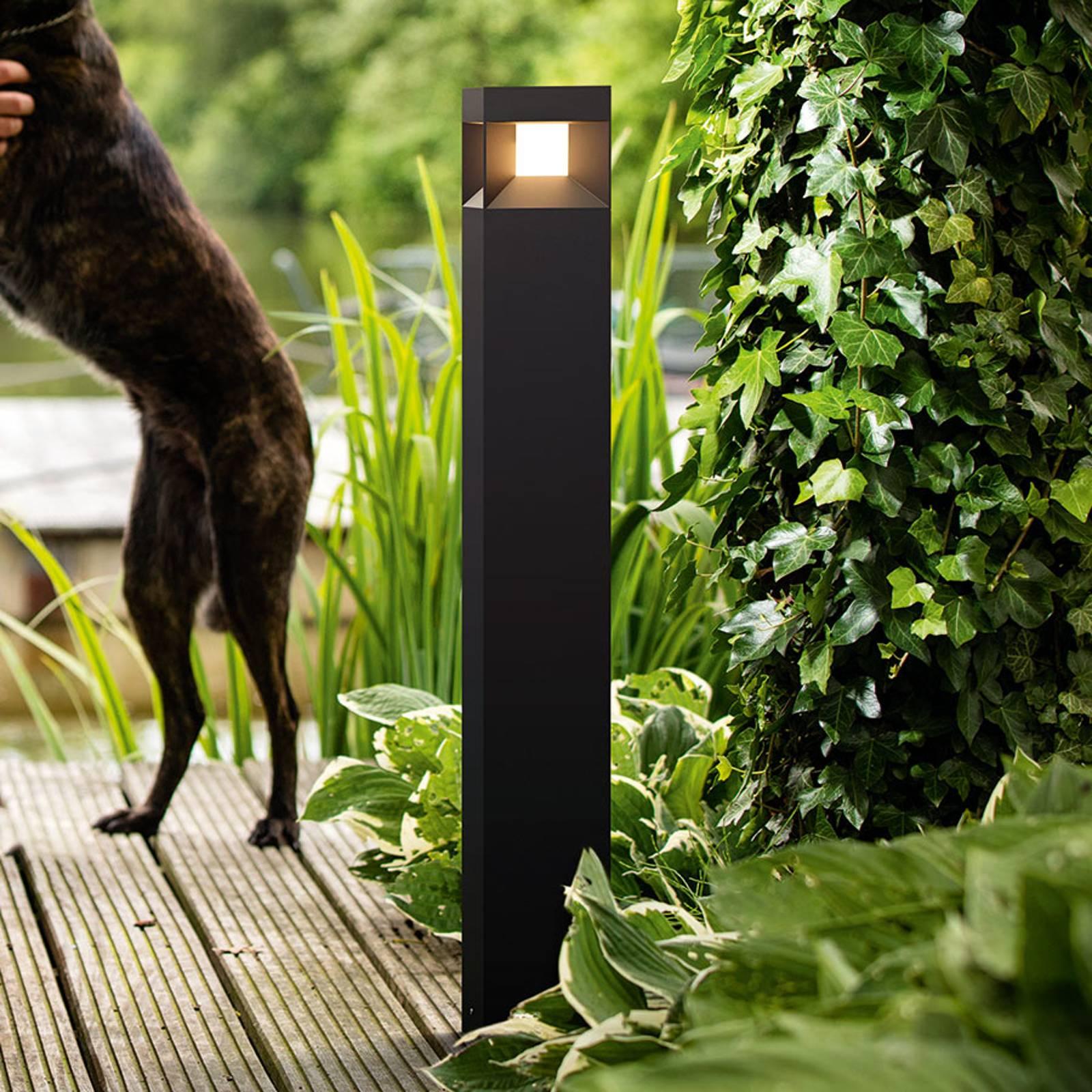 Parterre - czarny słupek ogrodowy LED