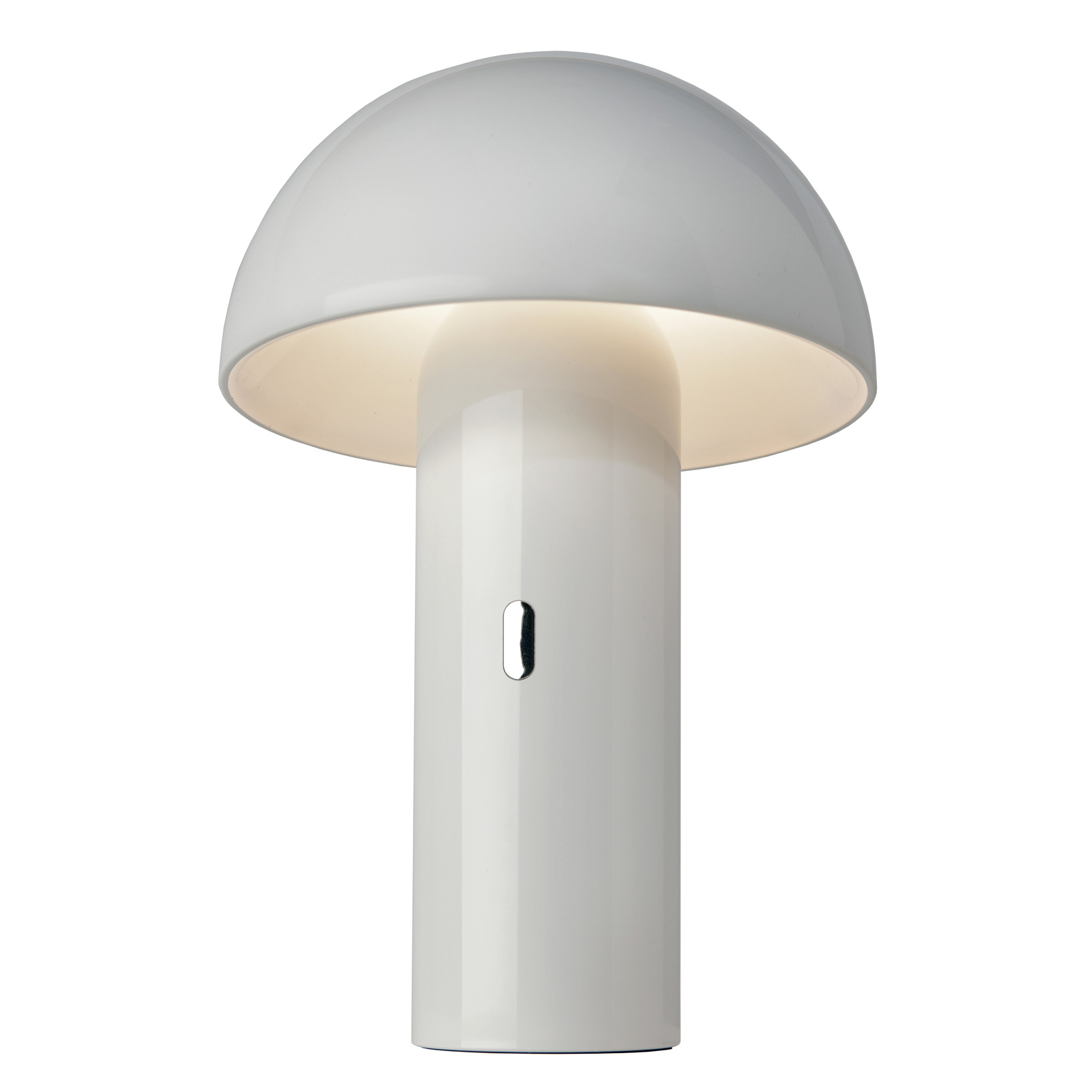 LED tafellamp Svamp met accu, draaibaar, wit