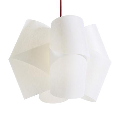 Lámpara colgante Julii, blanco-rojo