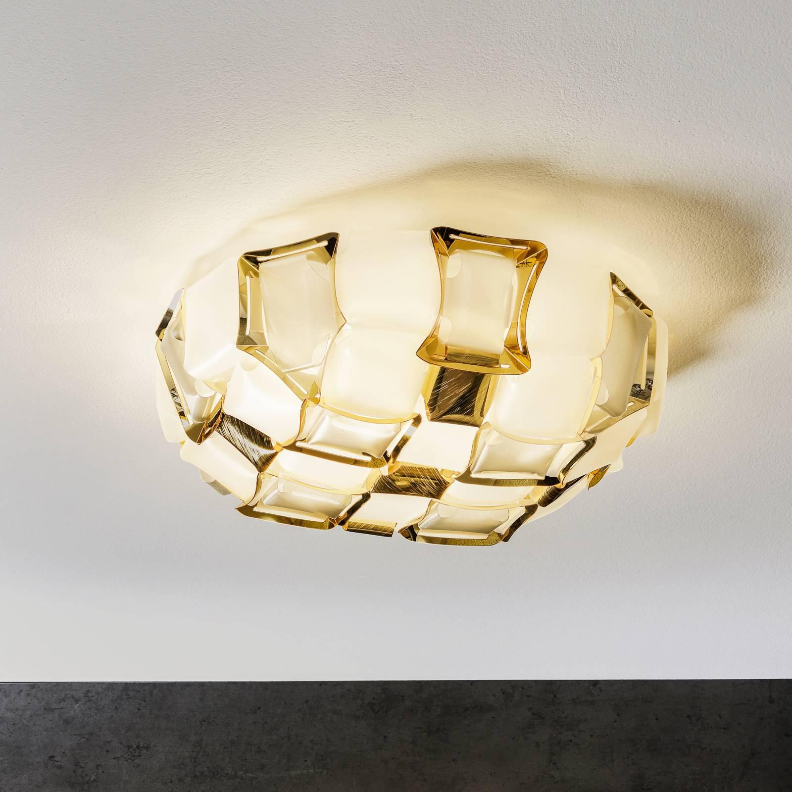 Slamp Mida Wandleuchte, 50 cm, weiß-gold