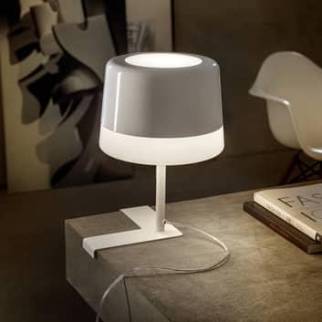 Prandina Gift T1 Tischlampe weiß, L-Fuß Eckmontage