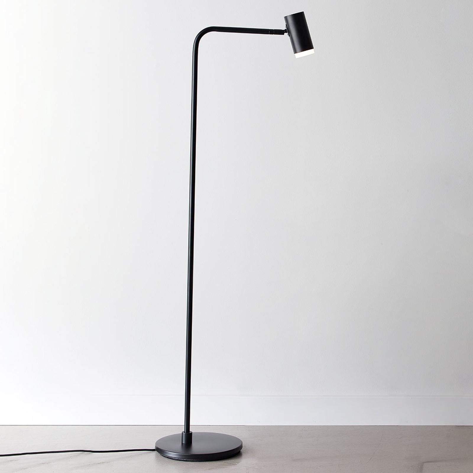LED vloerlamp Cato Q met dimmer, zwart