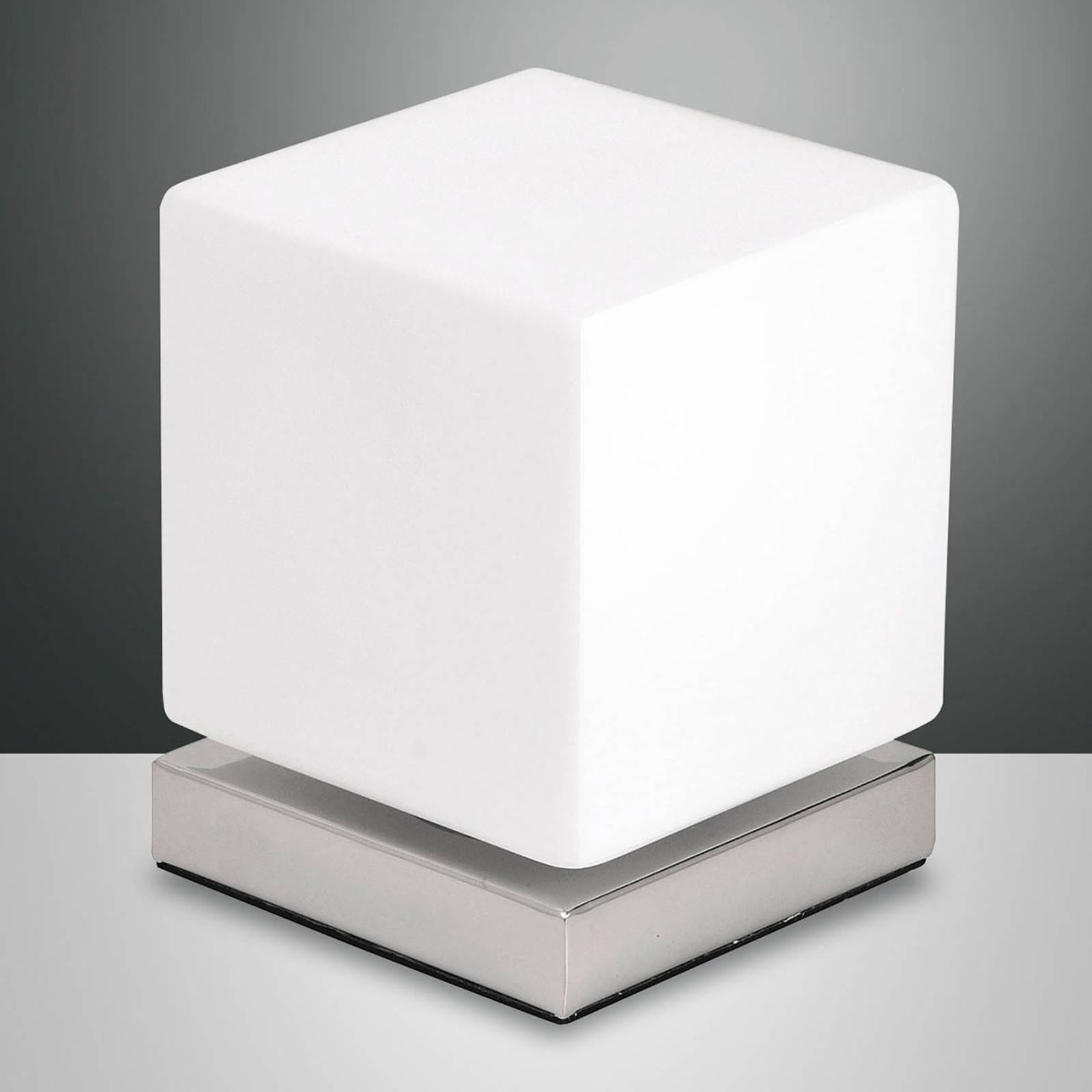 Met aanraakdimmer - LED tafellamp Brenta chroom