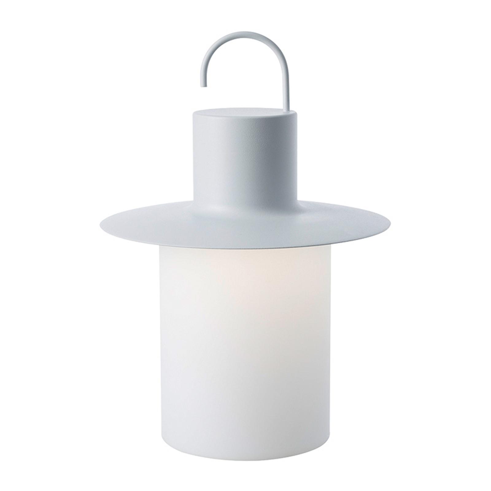 Nautic LED-terrasselampe, 6 x USB, hvid