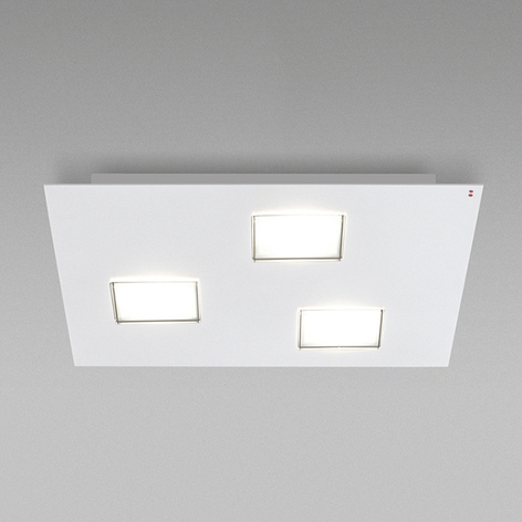Fabbian Quarter - weiße LED-Deckenlampe 3flg.