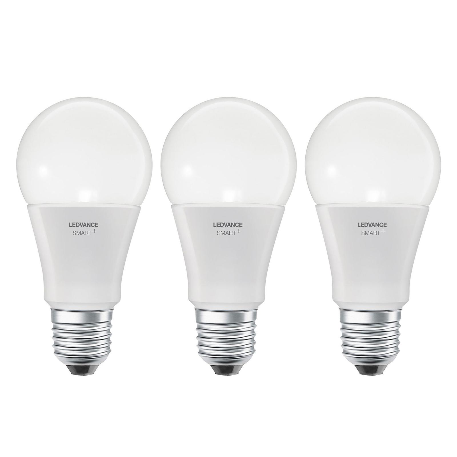 LEDVANCE SMART+ WiFi E27 9,5W Classic CCT 3-er