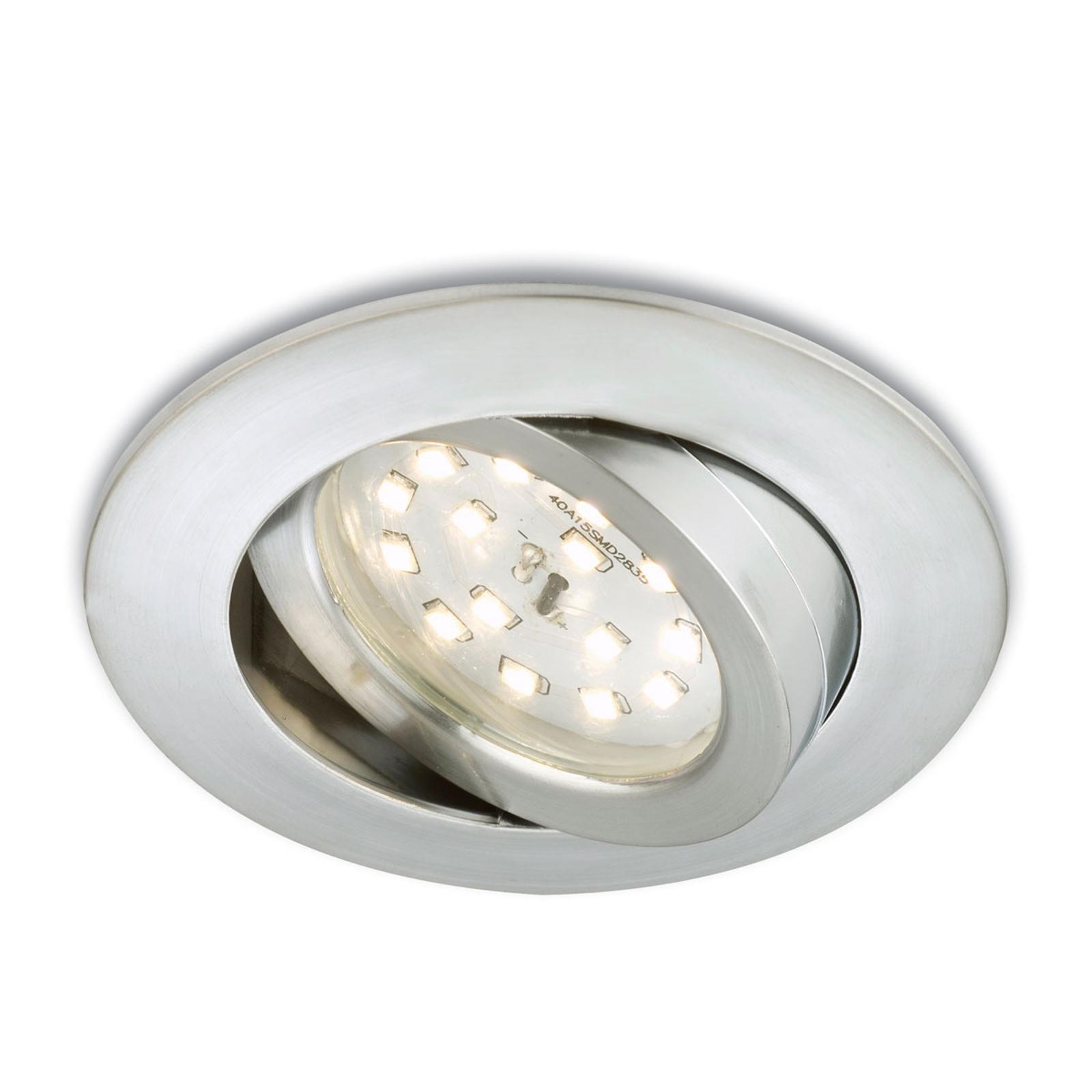 Foco empotrado LED Erik color aluminio, giratorio