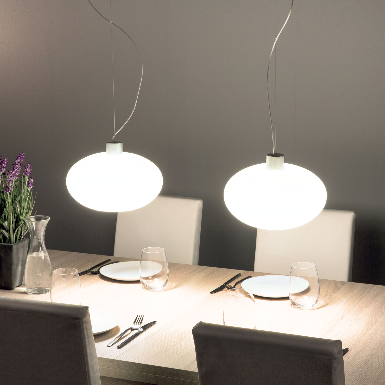 Design-hanglamp AIH, 28 cm, crème mat