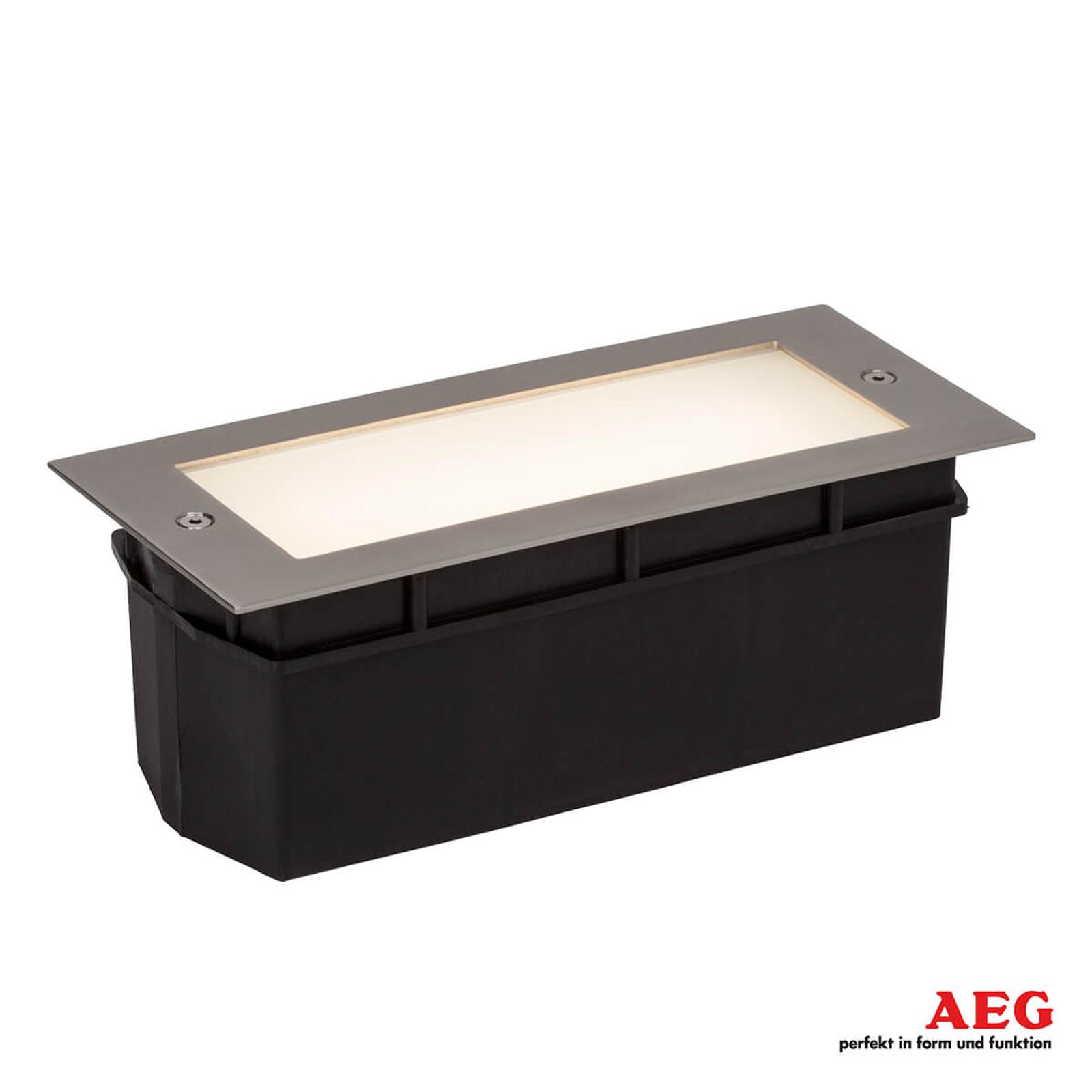 Wall LED-vegglampe for innfelling, satinert glass