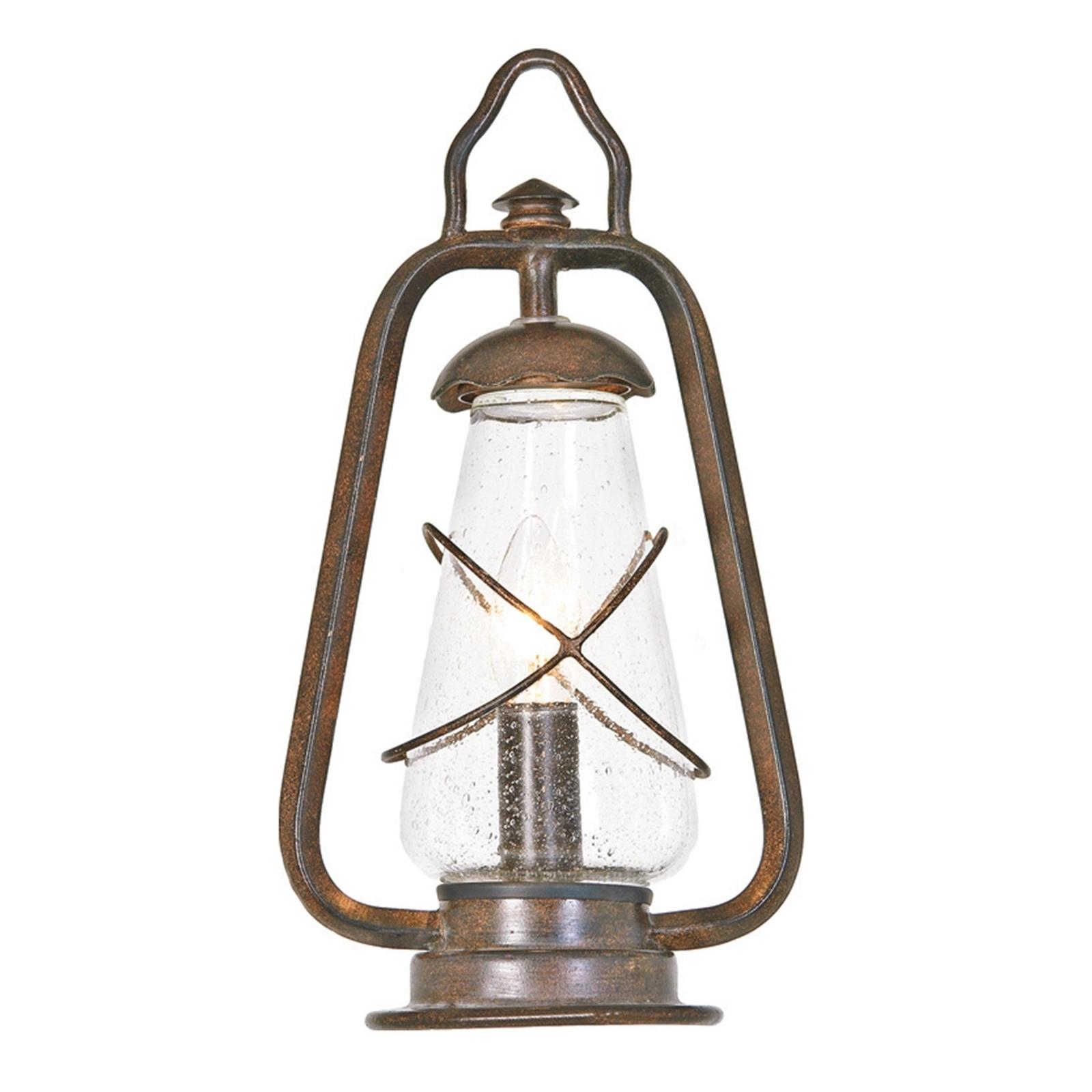 Sloupkové svítidlo Miners ve stylu hornické lampy