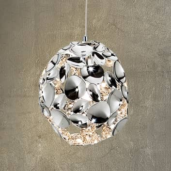 Lampada a sospensione LED Narisa, Ø 18 cm cromo
