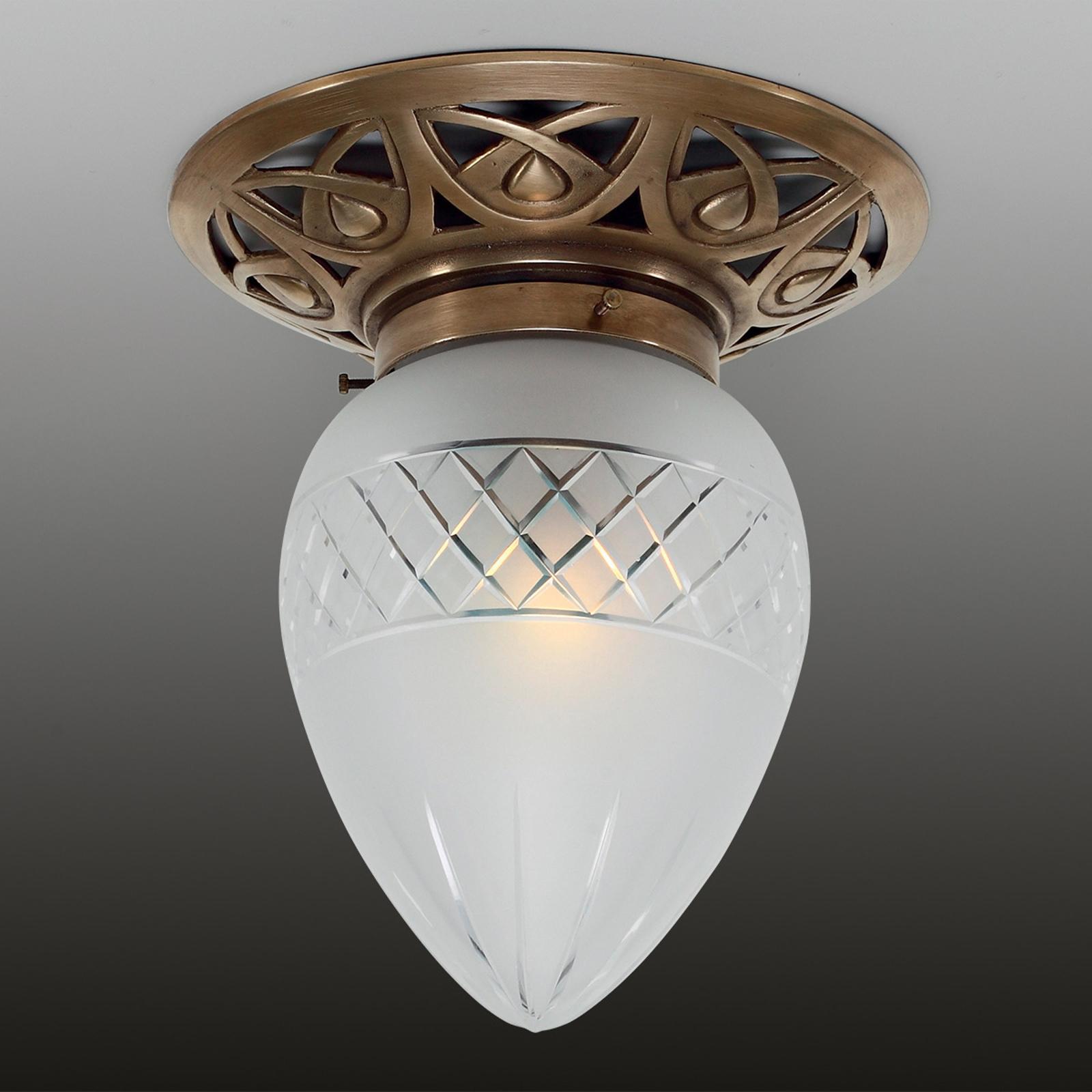 PAULINE - mała lampa sufitowa z mosiądzu