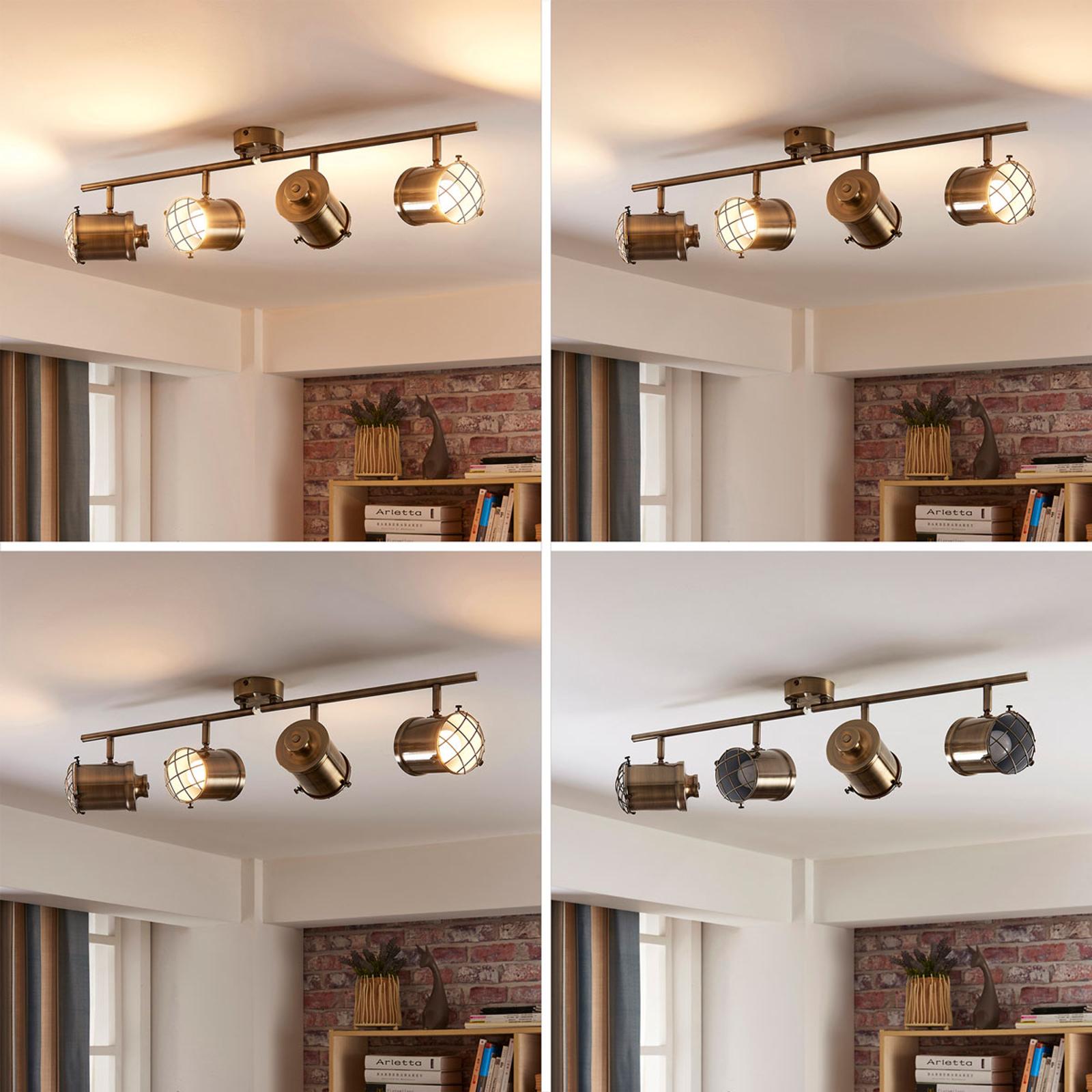 4-flammige LED-Deckenleuchte Ebbi, easydim