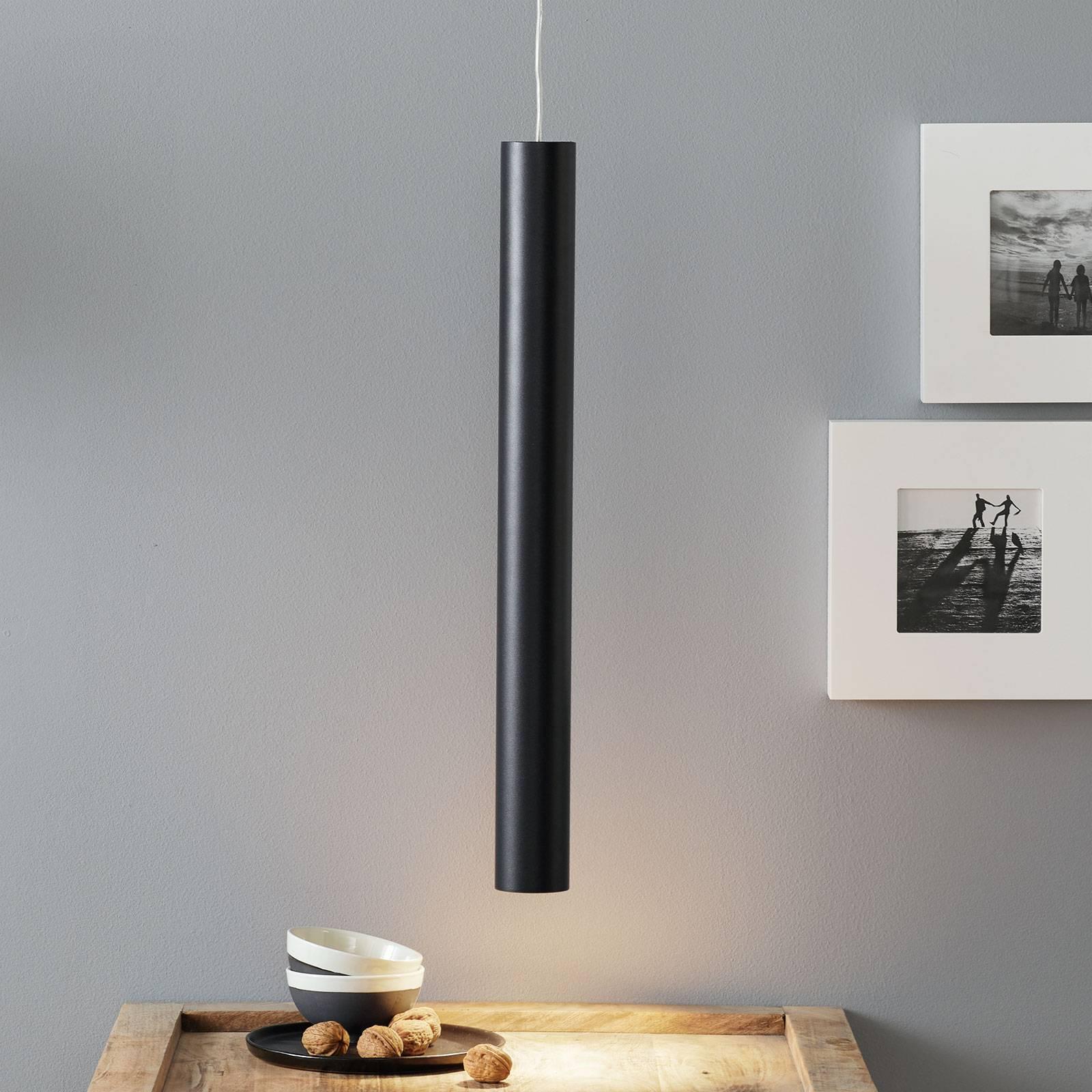 Lucande Luana lampa wisząca 60cm czarna