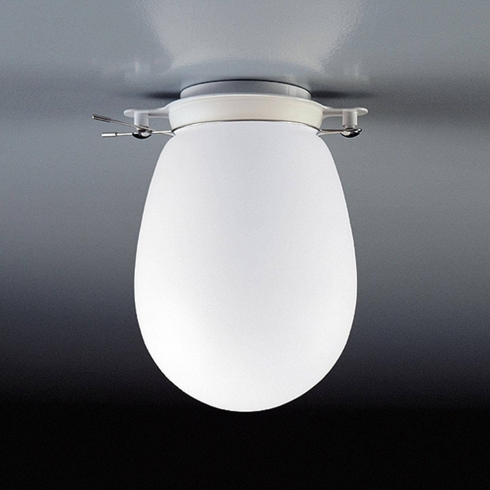 BANO - lampa sufitowa ze szkłem opalowym