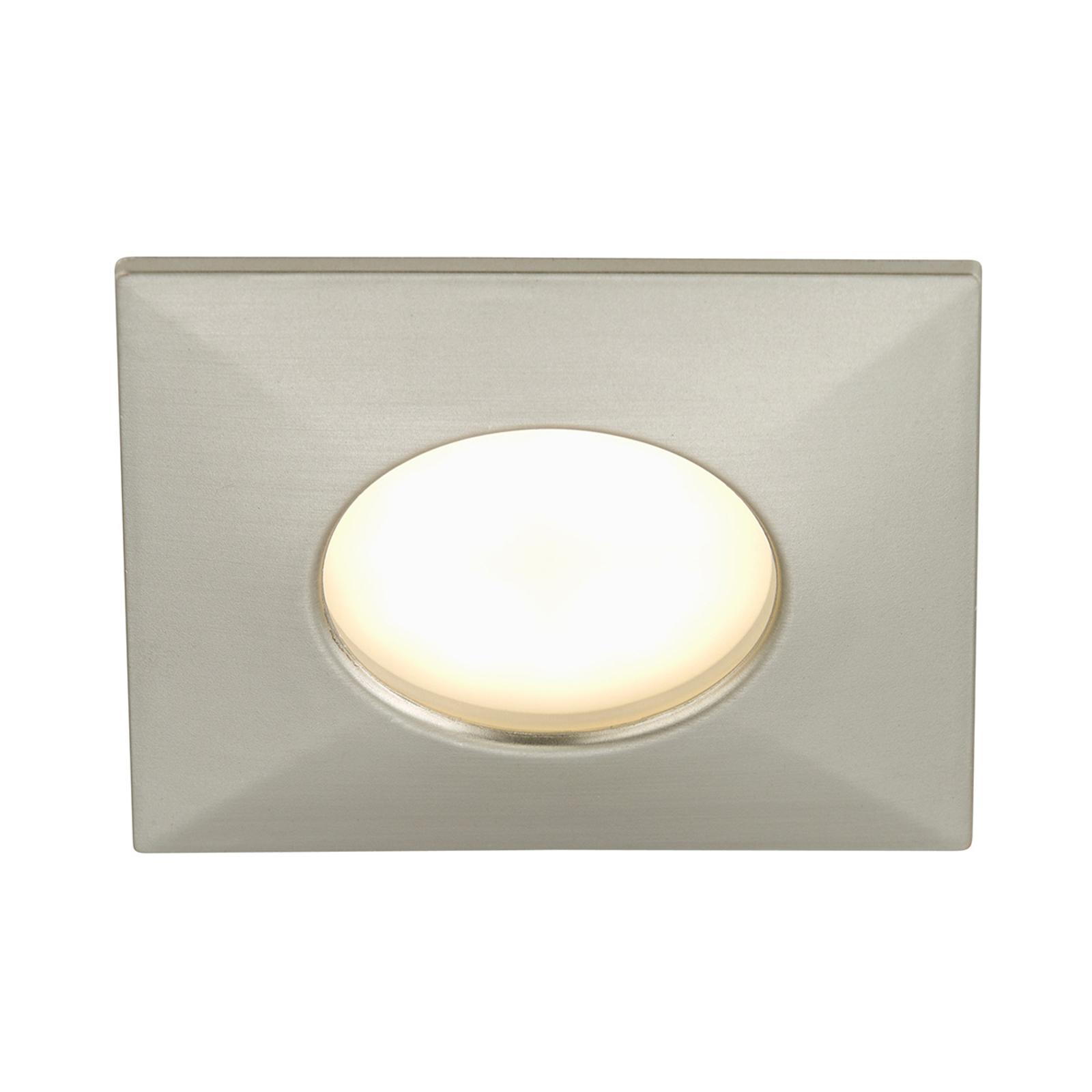 Luca LED-downlight IP44 nikkel matt