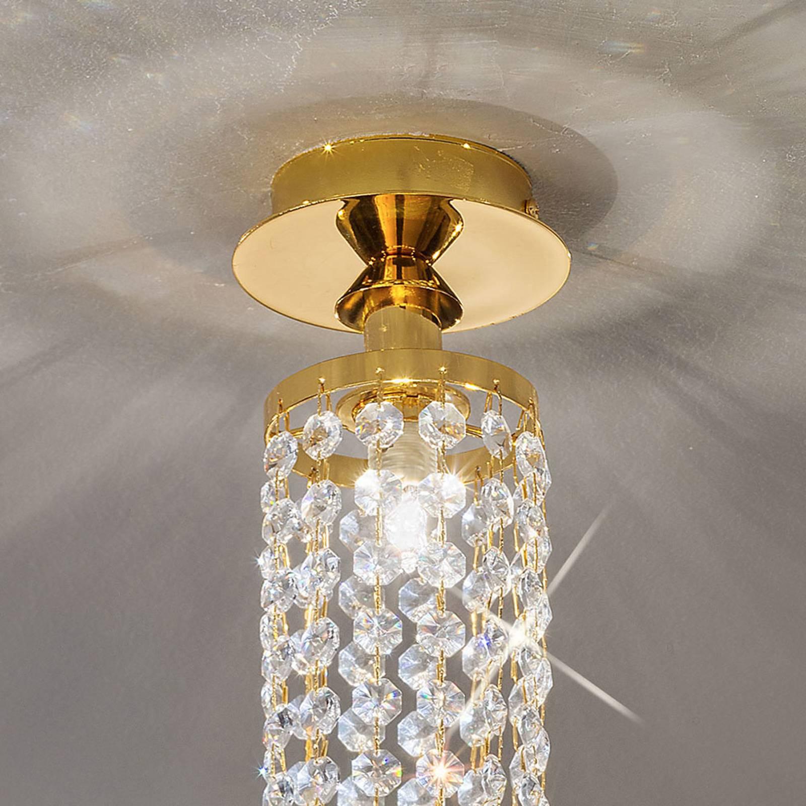 KOLARZ Charleston plafondlamp kristal, Ø 10cm