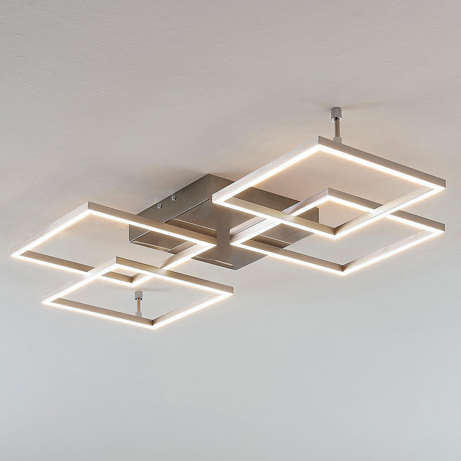 LED-Deckenlampe Quadra, dimmbar, 4-flg., 80,5 cm