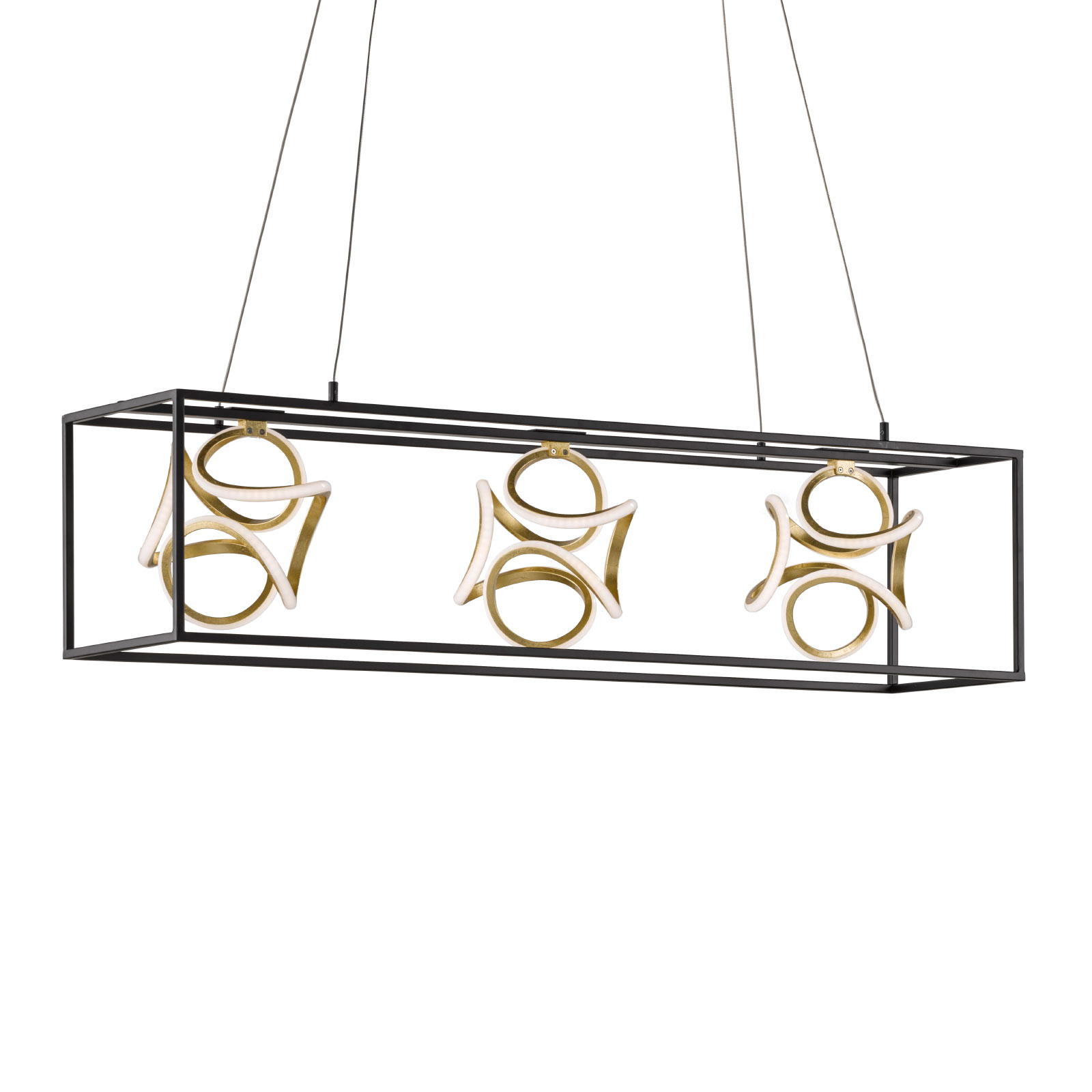 Suspension LED Gesa avec cage métallique
