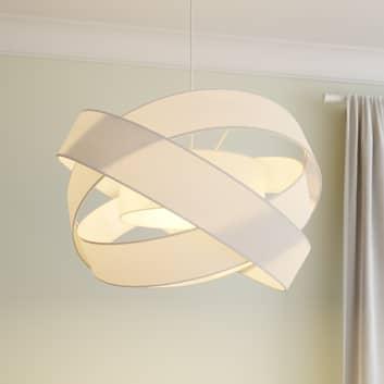 Lindby Simaria látkové závěsné světlo, bílé