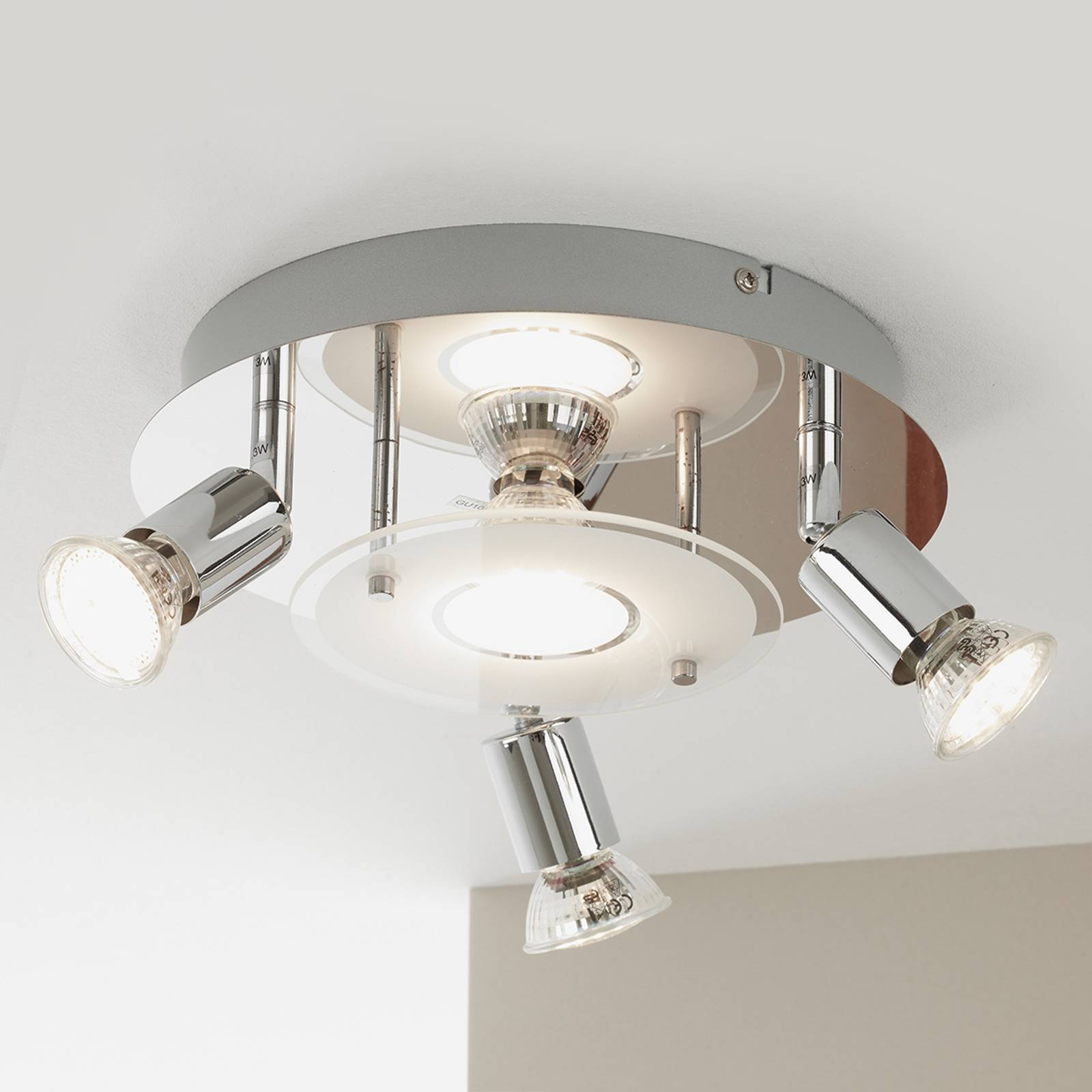 LED plafondlamp Start, 4-lamps