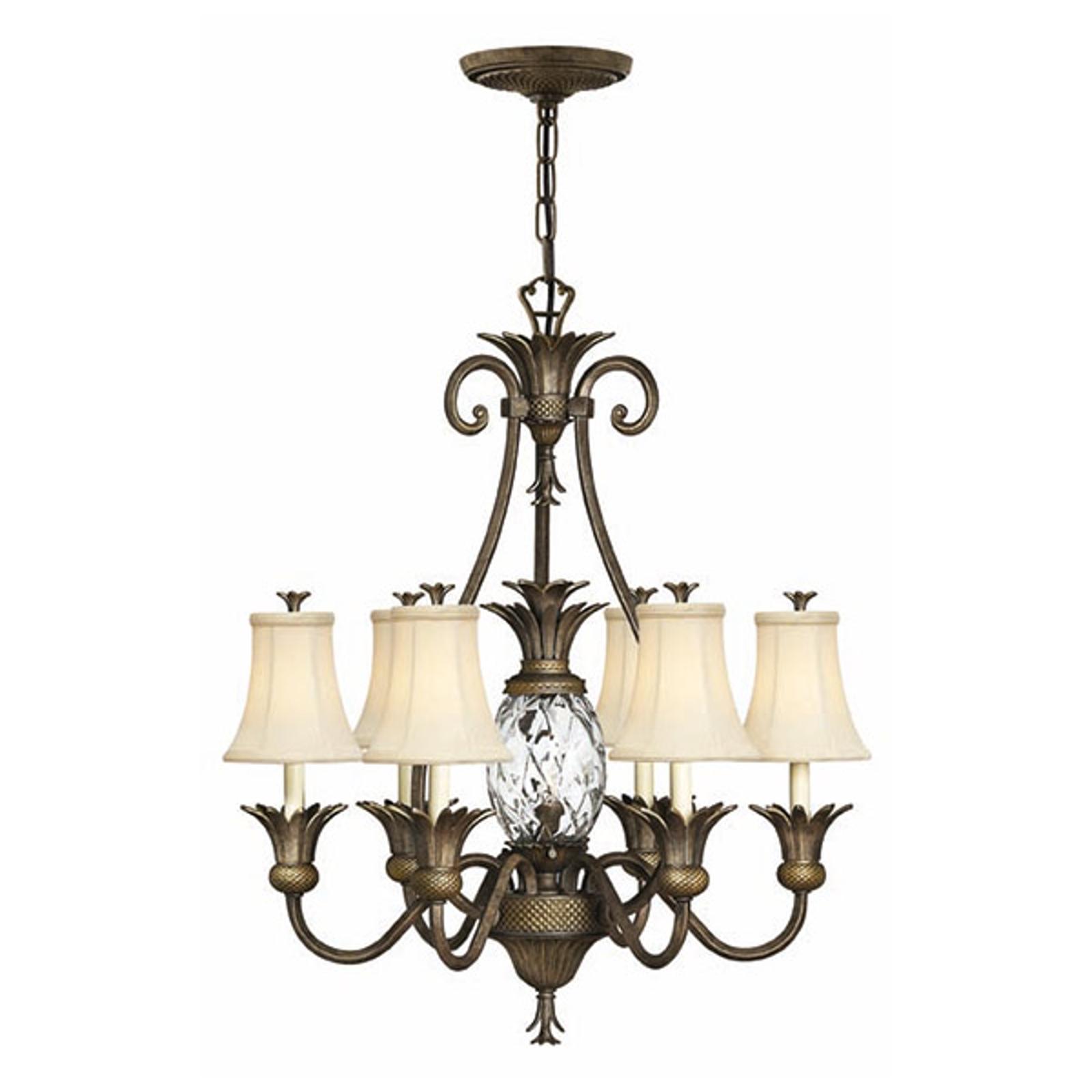 Speciell lampkrona Plantation, 6 ljuskällor