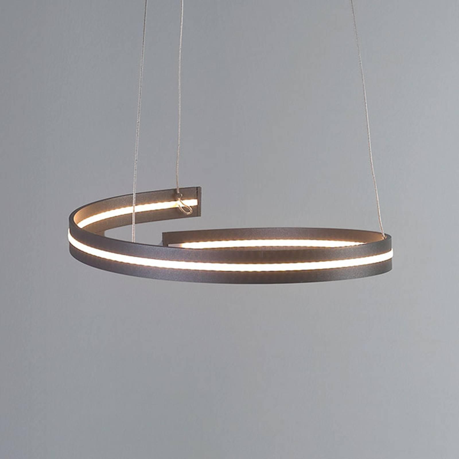Bopp Break - LED hanglamp, 40 cm antraciet