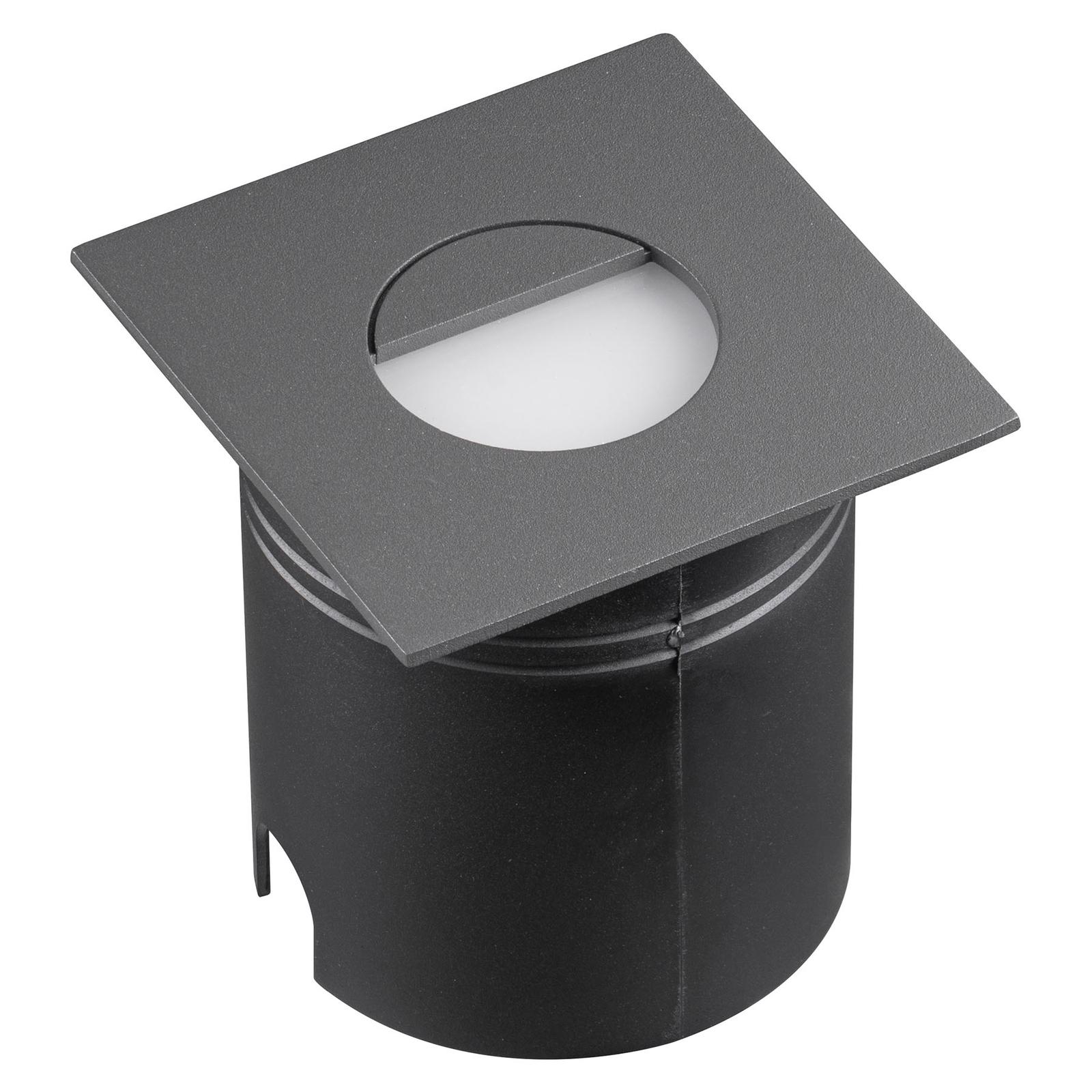 Lampe enc. LED Aspen, diffuseur, angulaire, grise