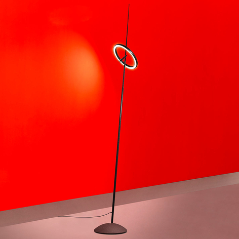 Ingo Maurer Ringelpiez LED-Stehlampe Ring schwarz