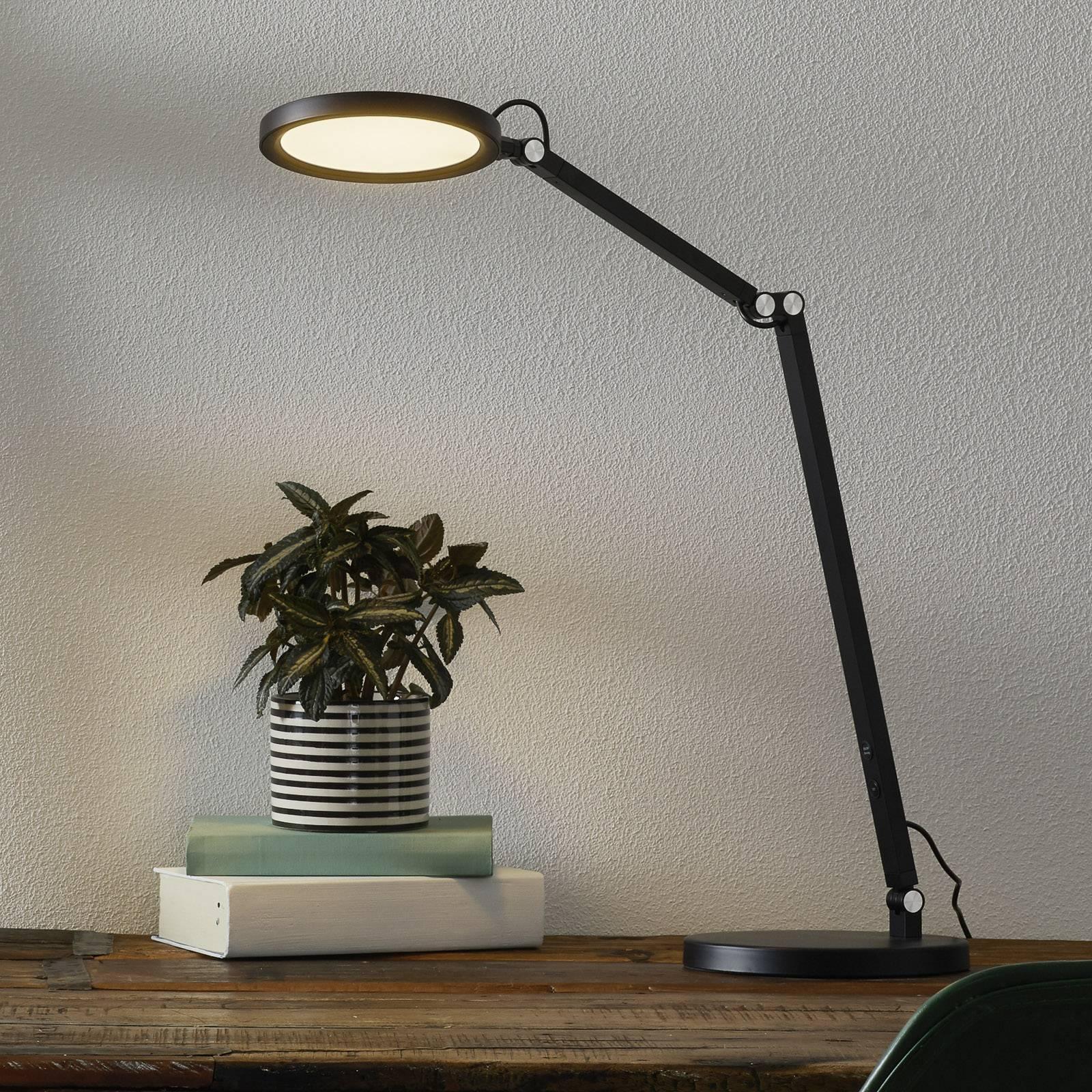 LED-Schreibtischleuchte Regina mit Dimmer, schwarz