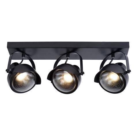 Faretto soffitto Cicleta, nero, 3 luci