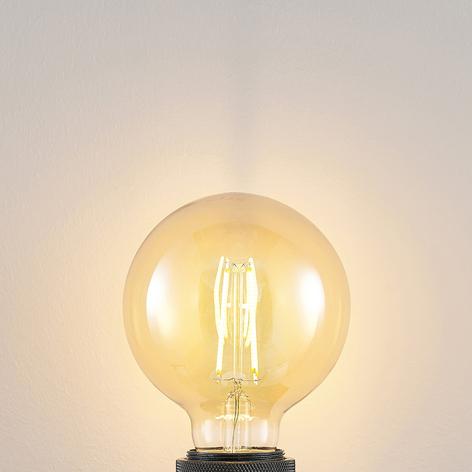 Lampadina LED E27 G95 6,5W 2.500K ambra, dimming