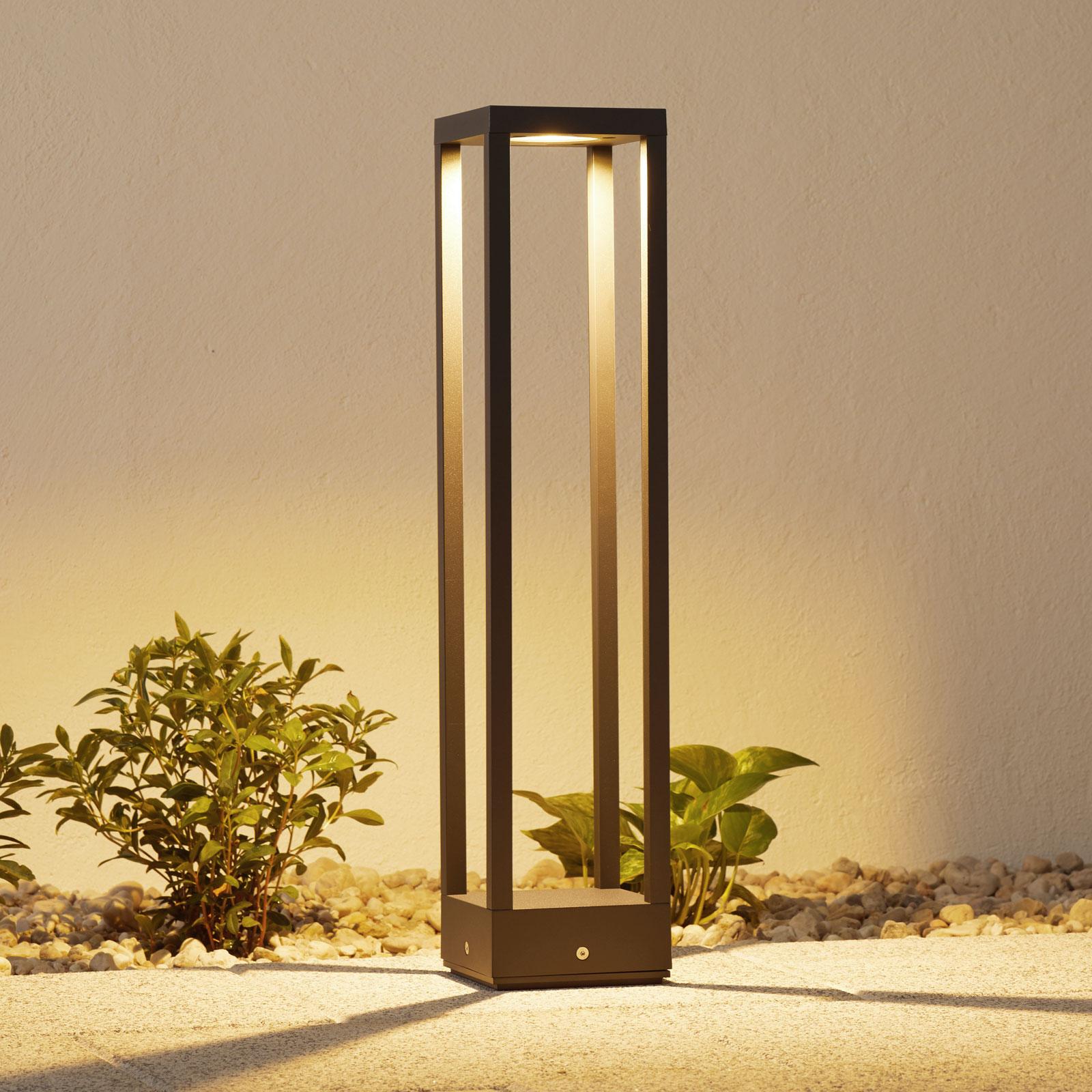 LED-pylväsvalaisin Carlota, tummanharmaa, 65 cm