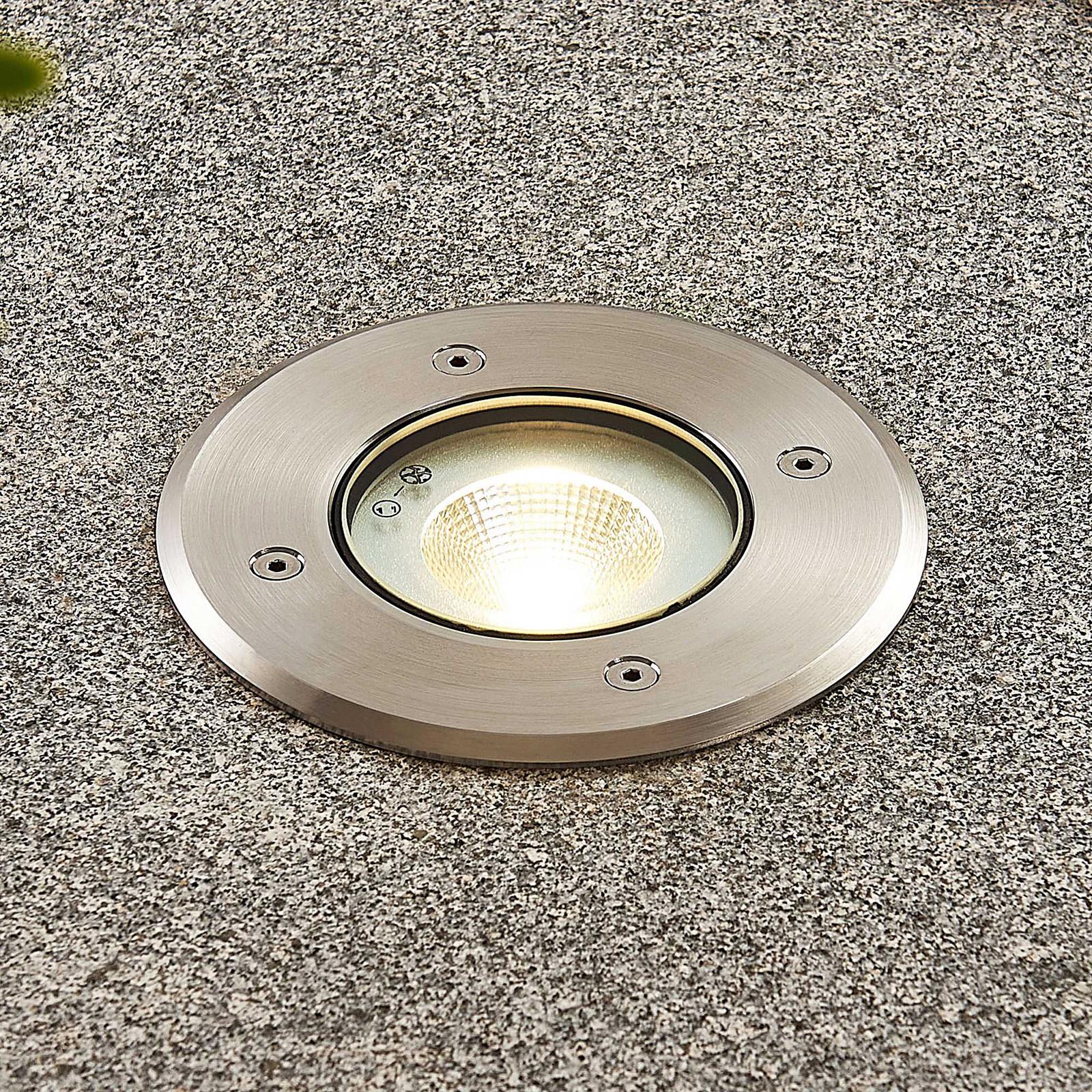Oprawa wpuszczana LED Kari stal szlachetna okrągła