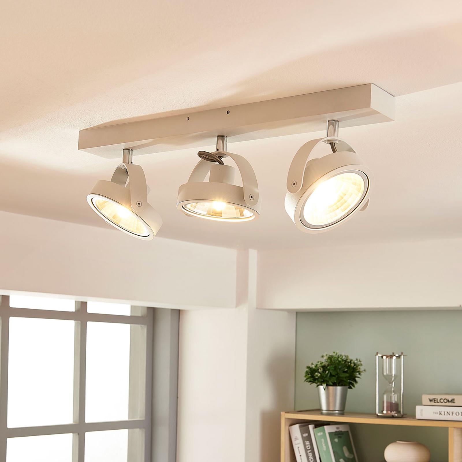 Moderne LED-Deckenlampe Lieven in Weiß