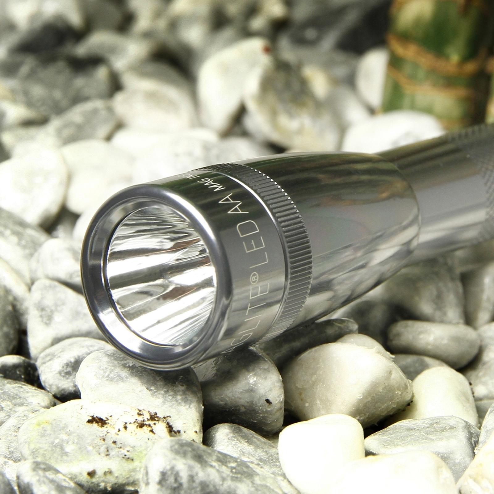 Led-zaklamp Mini-Maglite, titanium
